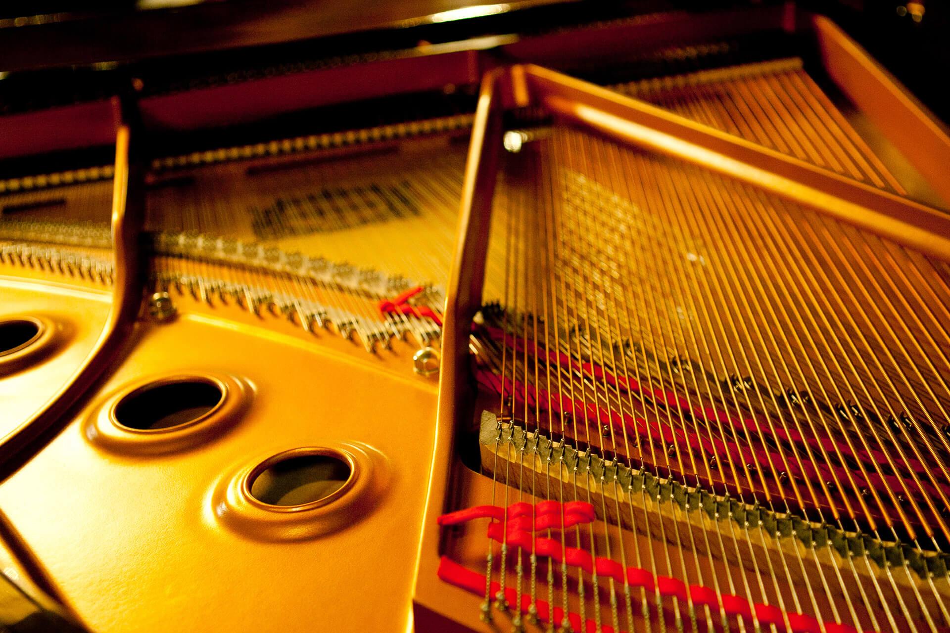 inside of piano